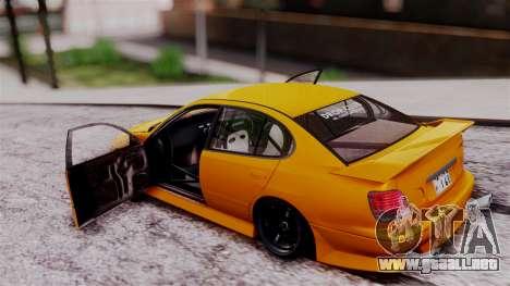 Toyota Aristo para GTA San Andreas vista hacia atrás