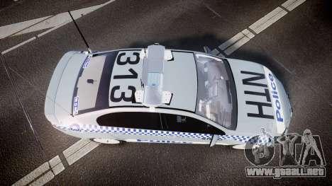 Ford Falcon FG XR6 Turbo Police [ELS] para GTA 4 visión correcta