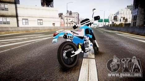 Honda XR 200 para GTA 4 Vista posterior izquierda