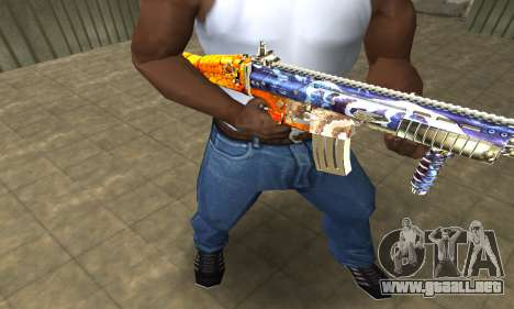 M4 Fish Power para GTA San Andreas segunda pantalla