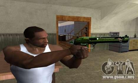 Green Clayn Deagle para GTA San Andreas tercera pantalla