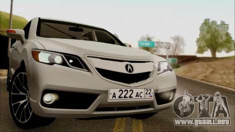 Acura RDX 2009 para GTA San Andreas vista posterior izquierda