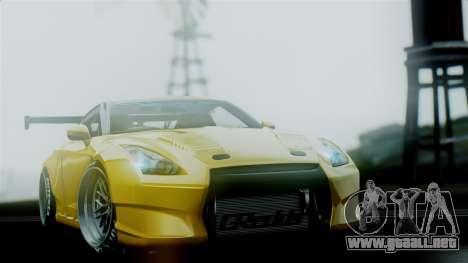 Nissan GT-R R35 Bensopra 2013 para visión interna GTA San Andreas