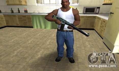 Blue M4 para GTA San Andreas tercera pantalla