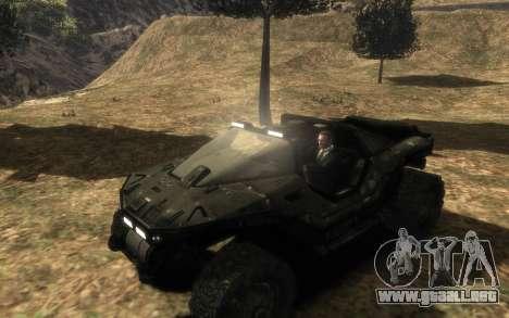 CONSEJO de seguridad M12 warthog de Halo Reach para GTA 4 Vista posterior izquierda