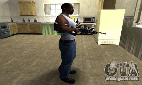 Full Black Sniper Rifle para GTA San Andreas tercera pantalla