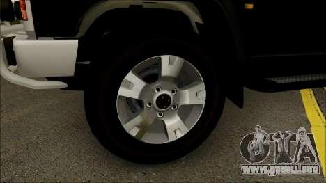 Nissan Patrol Y60 para GTA San Andreas vista hacia atrás