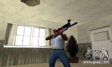 Red Shark Sniper Rifle para GTA San Andreas tercera pantalla