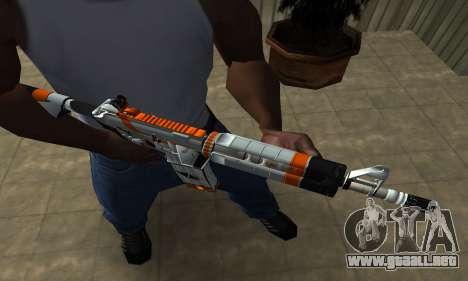 M4 Asiimov para GTA San Andreas segunda pantalla