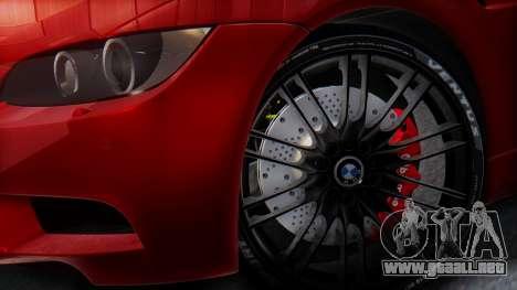 BMW M3 E92 2008 para visión interna GTA San Andreas
