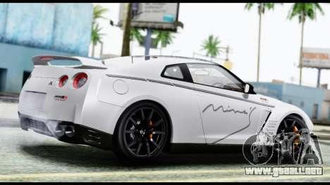 Nissan GT-R R35 2012 para GTA San Andreas left