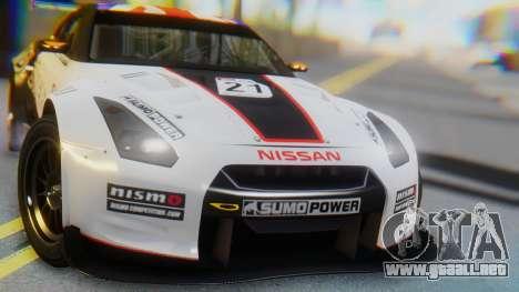 Nissan GT-R GT1 Sumo para visión interna GTA San Andreas