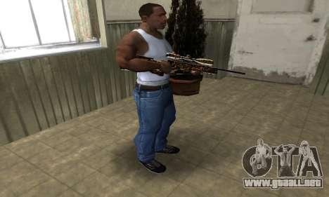 Leopard Sniper Rifle para GTA San Andreas tercera pantalla