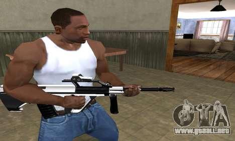 Chrome AUG para GTA San Andreas segunda pantalla