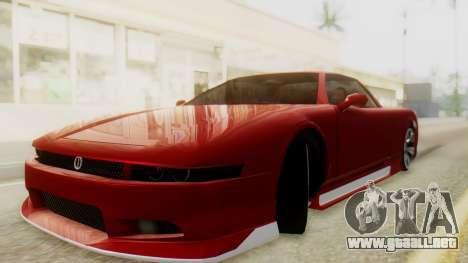 Infernus BMW Revolution with Plate para GTA San Andreas vista posterior izquierda
