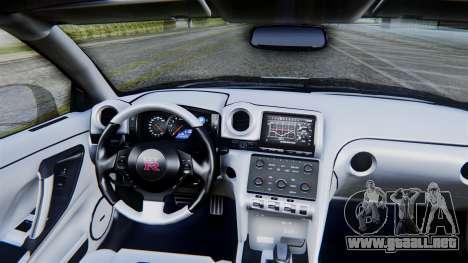 NFS Rivals Nissan GT-R R35 para la visión correcta GTA San Andreas