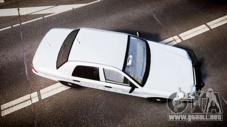 Ford Crown Victoria Bohan Police [ELS] unmarked para GTA 4 visión correcta