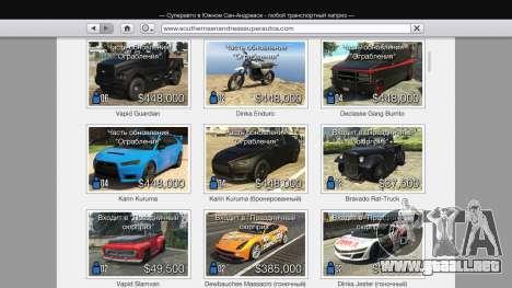 GTA 5 Comprar único de transporte de v1.3