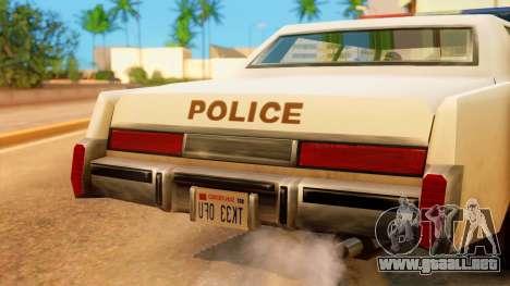 4-door Police Esperanto para la visión correcta GTA San Andreas