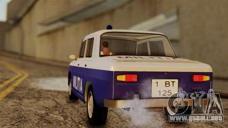 Dacia 1100 Militia para GTA San Andreas left
