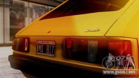 Fiat 147 Al Piso para GTA San Andreas vista hacia atrás
