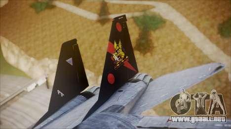 F-14B Bombcat VF-11 Red Rippers para GTA San Andreas vista posterior izquierda