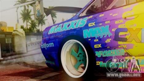 Nissan Silvia S14 Kouki Matt Faileds para GTA San Andreas vista hacia atrás