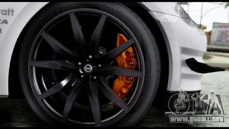 Nissan GT-R R35 2012 para GTA San Andreas vista posterior izquierda