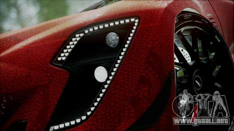 Bertone Mantide 2010 para GTA San Andreas vista posterior izquierda