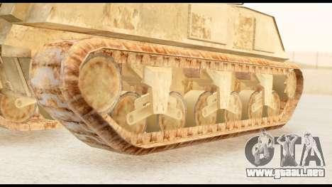 M4 Sherman 75mm Gun Desert para GTA San Andreas vista posterior izquierda
