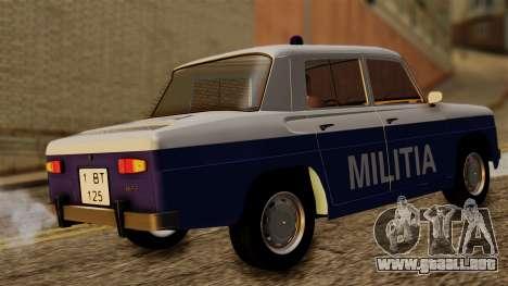 Dacia 1100 Militia para GTA San Andreas vista posterior izquierda