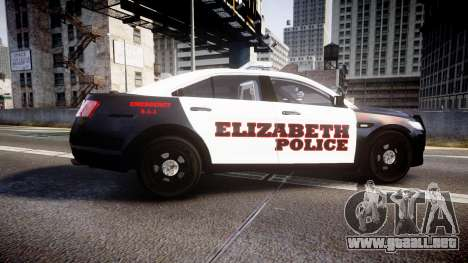 Ford Taurus 2010 Elizabeth Police [ELS] para GTA 4 left
