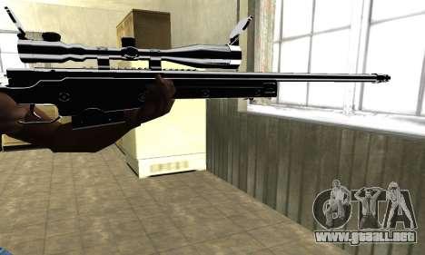Full Black Sniper Rifle para GTA San Andreas segunda pantalla