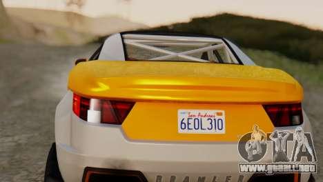 Coil Brawler Gotten Gains para GTA San Andreas vista posterior izquierda