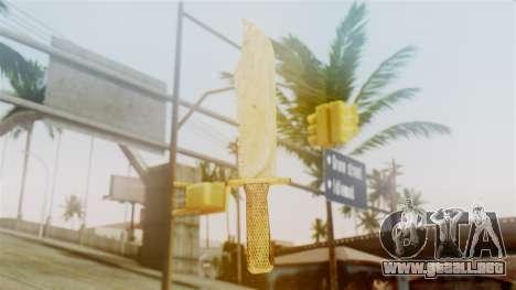 Red Dead Redemption Knife Sergio para GTA San Andreas segunda pantalla