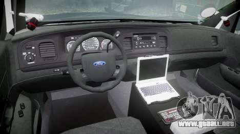 Ford Crown Victoria 2011 LAPD [ELS] rims2 para GTA 4 vista hacia atrás