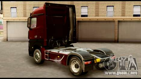 Mercedes-Benz Actros MP4 4x2 Standart Interior para GTA San Andreas left