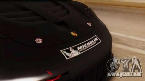 Porsche 911 RSR para GTA San Andreas vista hacia atrás