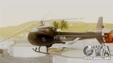 Helicopter National Police of Paraguay para GTA San Andreas left
