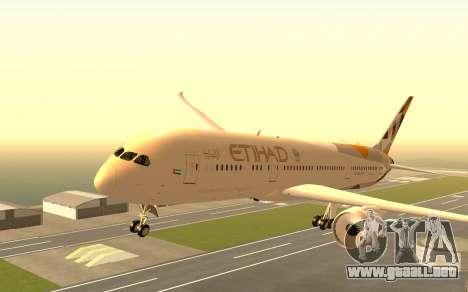 Boeing 787-9 Etihad Airways para GTA San Andreas