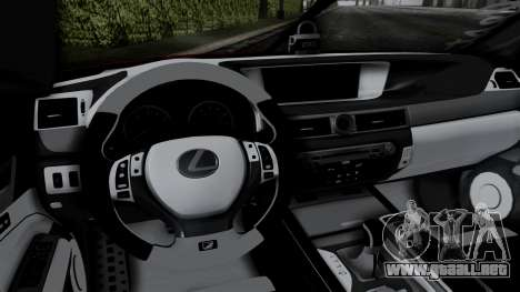 Lexus GS350 Stance Itsuka Kotori para GTA San Andreas vista hacia atrás