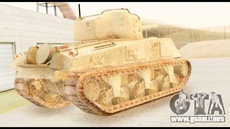 M4 Sherman 75mm Gun Desert para GTA San Andreas left