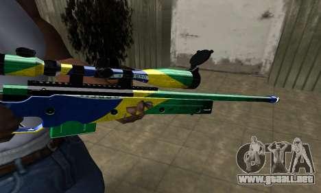 Three Colors Sniper Rifle para GTA San Andreas segunda pantalla