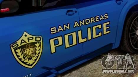 Hunter Citizen from Burnout Paradise SAPD para la visión correcta GTA San Andreas