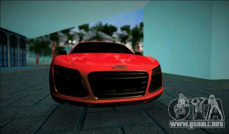 Audi R8 V10 Plus 2014 para GTA Vice City left
