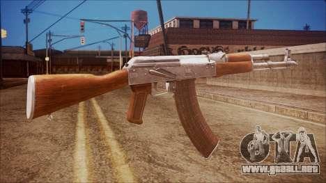 AK-47 v7 from Battlefield Hardline para GTA San Andreas segunda pantalla