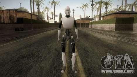I am a Robot Skin para GTA San Andreas segunda pantalla