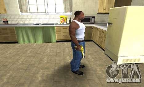 Yellow Deagle para GTA San Andreas tercera pantalla