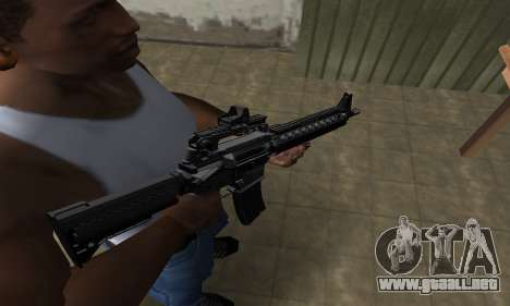 Full Black M4 para GTA San Andreas