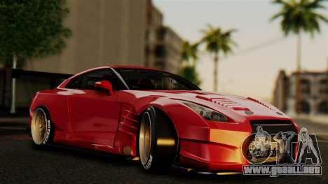 Nissan GT-R R35 Bensopra 2013 para vista inferior GTA San Andreas